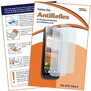 2 x mumbi Displayschutzfolie HTC One S Schutzfolie AntiReflex antireflektierend