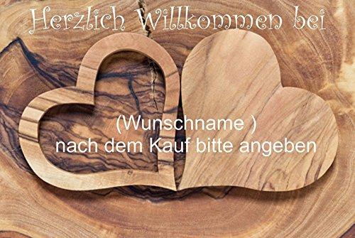 """Fussmatte """" Herzlich Willkommen mit Wunschname (nach dem Kauf angeben)3 - Fussmatte bedruckt Türmatte Innenmatte Schmutzmatte lustige Motivfussmatte"""