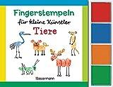 Fingerstempeln für kleine Künstler-Set - Tiere: Mit vier Fingerstempelfarben