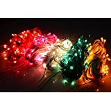 Ascension ® Set Of 6 Rice Lights Serial Bulbs Decoration Lighting For Diwali Christmas 8 Meter (Random Colour)