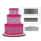 Yayaki Kuchenprägung, zum Selbstgestalten von Geburtstagskuchen oder Dekorieren von Zuckersieb, Zuckergussmodell, h, As Picture Shown