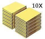 VOLGA 10 PCS Coperta isotermica Emergenza, Coperta di Emergenza Isolante Oro Argento, Protegge da Freddo, Caldo, Pioggia, umidità e Vento per nella Gestione del Primo Soccorso