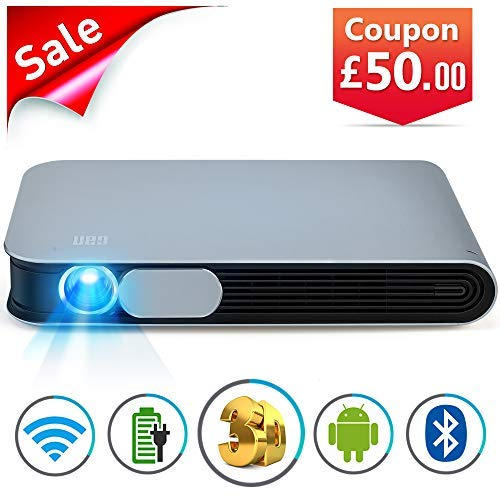 WOWOTO DLP Mini Projector 3D Full HD LED Projector 3200 Lumens Support...