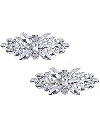 Santfe Fashion Rhinestone Crystal Clips de zapato encanto zapatos hebilla de decoración accesorios