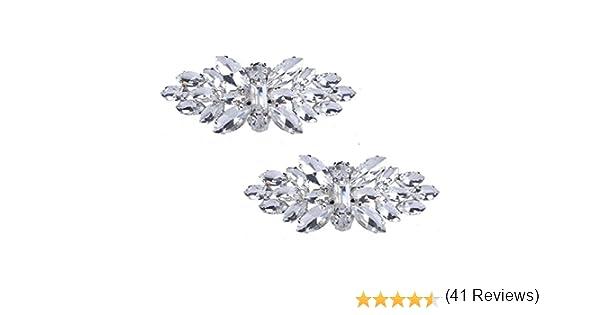 Santfe Paire de broches /à clip pour chaussures avec cristaux