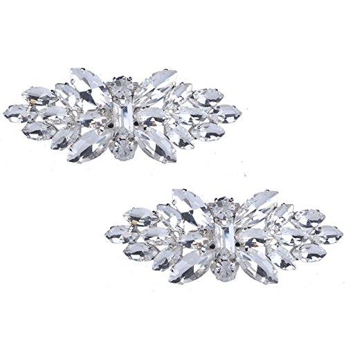 Clips de Zapatos Decoraciones para mujer zapatos de boda de vestir Accesorios Cristales zapato Clips 1 Par (3)