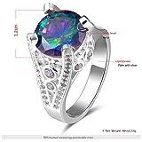 Silber Farbe Diamant Ring Trend Jewelllery Ringe Damen Ringe 8# silber