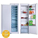 SIA 177cm Fully Integrated Tall Larder Fridge & Freezer Pack A+ Energy Rating