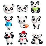27 unidades de cuentas de panda gigantes de Kawaii con diseño de oso panda y animales, de resina, con parte trasera plana, para decoración del hogar