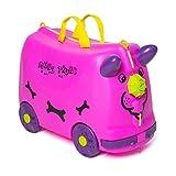 Bangbei valigia per bambini trolley bagaglio perdo cavalcabile rigide (Fucsia)
