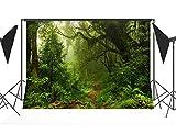 CapiSco Fondos Bosque de la selva fotográficos Foto Vinilo fotografía Telones de fondo estudio Accesorios 2,1 x 1,5 m TG04