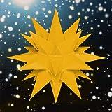 Weihnachtsstern, Adventsstern, original Herrnhut, für Außen, Kunststoff, 40 cm, mit Beleuchtung, Stern, Sterne, Weihnachtssterne, Adventssterne, original Herrnhuter Stern, gelb