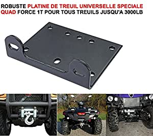 PLATINE TREUIL UNIVERSELLE FORCE 1T SPECIALE QUAD ! INDISPENSABLE RAID PREPARATION 4X4 FAUCET DONALDSON TOPSPIN SNORKEL