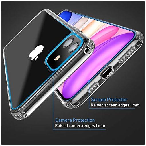 Blukar Cover per iPhone 11, Custodia Case Trasparente Protettiva per iPhone 11 da 6.1 Pollici [2019] – TPU Silicone, Anti Scivolo e Antiurto