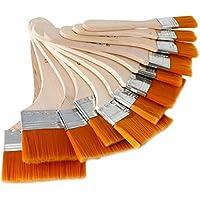 caxmtu 12piezas Premium juego de brochas de pintura cepillo de pintura artista de madera para el aceite