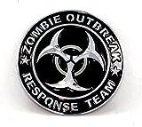 Zombie Outbreak Response Team Runden Metall Auto Aufkleber Abzeichen Decal (Schwarz)