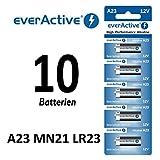 10 Stück A23 12V everActive Alkaline Batterien MN21-V23GA-23A 12 Volt 55 mAh