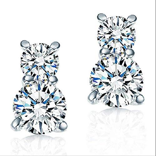 KBWL Orecchini Nuovi orecchini con zirconi cubici Per donna Stile casual Orecchini con zirconi personalizzati Gioielli in argento sterlingB110