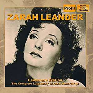 Zarah Leander : Edition Du Centenaire, L'Intégrale D'Enregistrements Allemands