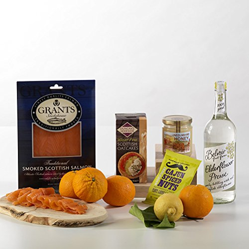 Hay Hampers Smoked Salmon Fresh & Fruity Hamper - FREE UK Delivery