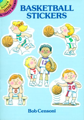 Basketball Stickers: Dover Little Activity Book (Dover Little Activity Books) por B. Censoni
