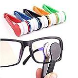 Mini spazzola in microfibra per la pulizia di occhiali da vista e da sole, 5pezzi (colore casuale).