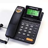Telefon, Büro Festnetz Kundenservice Anrufer-ID Anruferanfrage Freisprechen Einfacher Taschenrechner Flip-Screen (schwarz/weiß)
