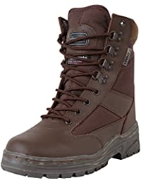 Military Mens Army Combat Patrol Hiking Cadet Work Brown Half Leather Boot