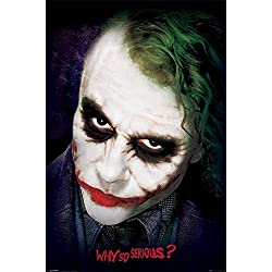 Batman - The Dark Knight - Joker Face - Filmposter Kino Movie Fantasy - Größe 61x91,5 cm + 1 Ü-Poster der Grösse 61x91,5cm