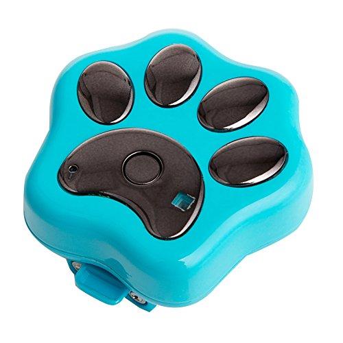 Pet GPS Tracker Halsband WiFi Hund Antiverlust Gerät Pet Locator rf-v30Smart blinkender LED Elektronische Micro wasserfest Sicherheit Alarm Hund finder Locator, Blue with package