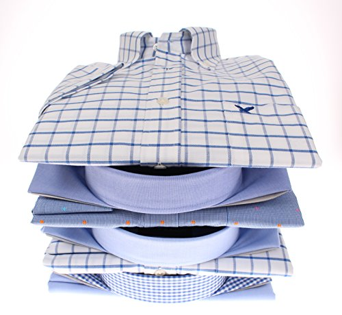 167088 Bots & Bots - Kurzarmhemd - Exclusive Collection - Baumwolle Button Down Normal Fit Blau