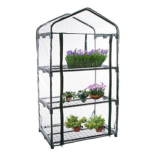 ckground Mini-Gewächshaus mit Reißverschluss, Gartengewächshaus-Kunststoffgewächshaus für Pflanzen und Blumen, tragbarer wetterfester Gartenzelt-Unterstand