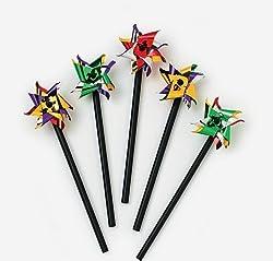 Mini Plastic Two-Tone Pinwheels (6 dz)