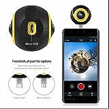Panorama Kamera 720 Doppelobjektiv WiFi VR Video Cam Full HD Action Kamera,Bilder realistische,Weitwinkel Fisheye Objektiv für Android Samsung/LG/HTC/Huawei