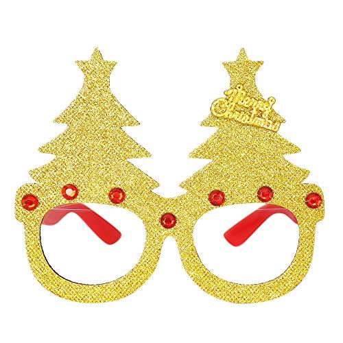 Pingtr - Cosplay-Brille,Weihnachten Brille Schneemann Frame Frohes Neues Jahr Kinder bevorzugt Weihnachten Geschenk Party Decor