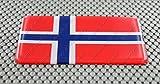 Norwegen (Norweger) Flagge 3D Aufkleber Aufkleber