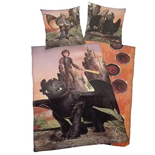 135 X 200 Cm Mehrfarbig Baumwolle Dragons Dreamworks Bettbezug Bettwäsche-set