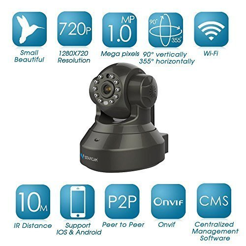 Annex Solutions By Vstarcam Vstarcam Kar1315 Hd 1280 X 720P H.264 Wireless Ip Camera, Pnp,Onvif 2.0 Protocol, Support Up To 32Gb Microsd Card