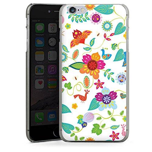 Apple iPhone X Silikon Hülle Case Schutzhülle Bunt Blumen Muster Hard Case anthrazit-klar