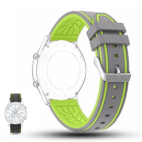 Classic-fitnessstudio (Samsung Gear S3 Classic / Gear S3 Frontier Uhrenarmband, iFeeker 22mm Weich Silikon Sport Smart Uhrenarmbänder Ersatzband Armband Gurt für Samsung Gear S3 Frontier / Gear S3 Classic Smartwatch)