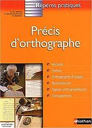Précis d'orthographe (Repères Pratiques)