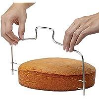 Hosaire Cake Cutter Acero Inoxidable Cake Sculpting y Herramientas de Modelado Espesor Ajustable – Pastel ajustable/pastel dispositivo de capas múltiples/utensilios para repostería/Herramientas de horno/niveler – con dos hilos
