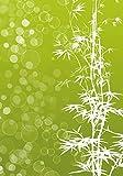 Wallario Wand-Bild 70 x 100 cm | Motiv: Bambusmuster grün-weiß | Direktdruck auf 5mm starke Hartschaumplatte | leichtes Material | günstig