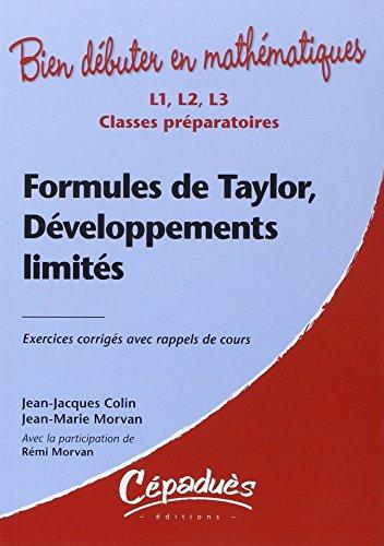 Formules de Taylor, Développements Limites - Exercices Corriges avec Rappel de Cours