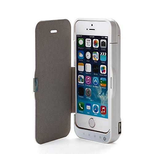 Zogin Coque Batterie Rechargeable 4200mAh Flip Cover Support Arrière Pour Apple iPhone 5S / 5C / 5 Ultra-Slim Étui avec Batterie externe de secours Haute Capacité