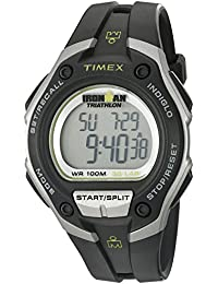 Timex Men's T5K412 Quartz Watch with LCD Dial Digital Display and Black Resin Strap