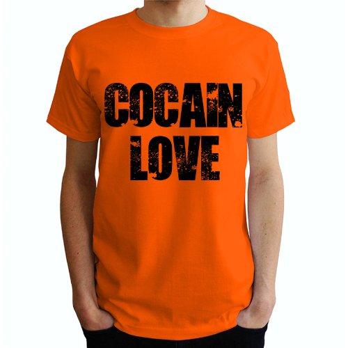 Cocain Love Herren T-Shirt Orange