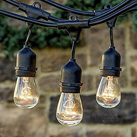 Tyhbelle Heavy Duty Waterproof Commercial String Lights with E27 Hanging Dropped Sockets Vintage Connectable Strand Indoor Outdoor for Patio, Cafe, Garden, Festoon Party Decoration (Bulbs Not Included)