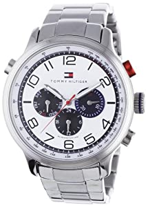 Reloj de caballero Tommy Hilfiger Watches 1790765 de cuarzo, correa de acero inoxidable color plata de Tommy Hilfiger