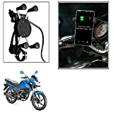 Vheelocityin Spider Bike Mobile Holder with USB Charger Mototrcycle Mobile Holder BracketFor Honda Livo